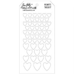 THS017 Stampers Anonymous Tim Holtz Layering Stencil - Hearts